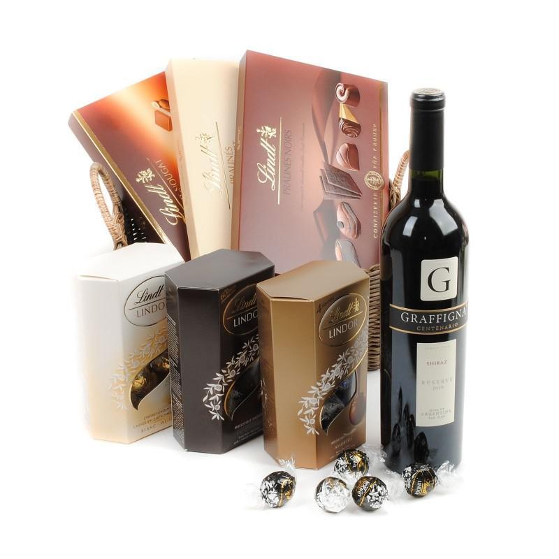Chocolate Boxes Wine Gift Basket