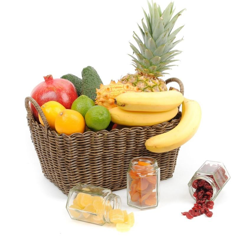 SEASONAL EXOTIC & DRIED FRUIT BASKET