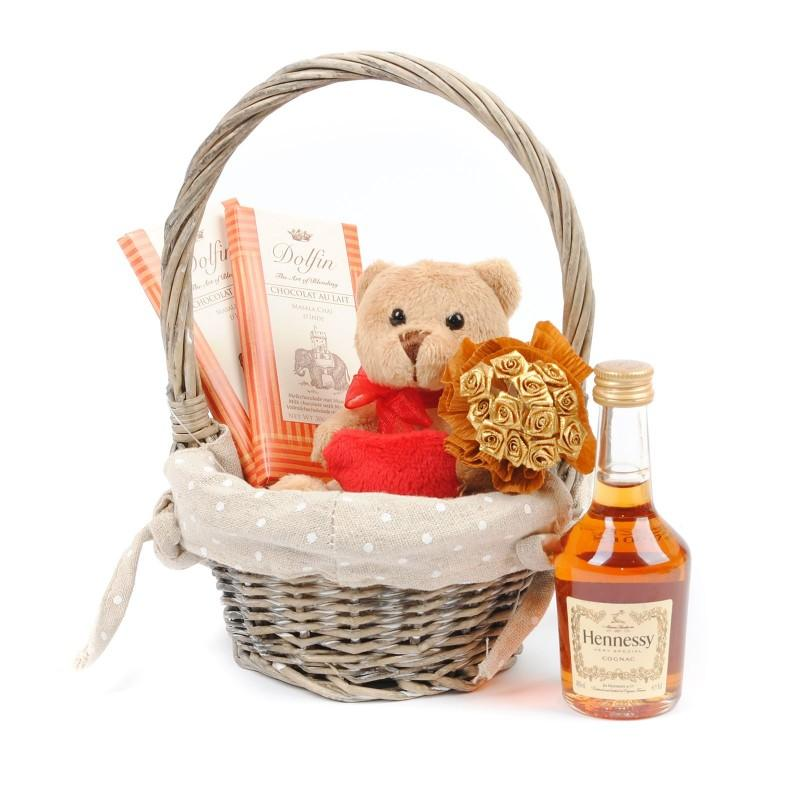 Hennessy Gift Basket No.2 | Cognac | Belgian Chocolate | Gifts