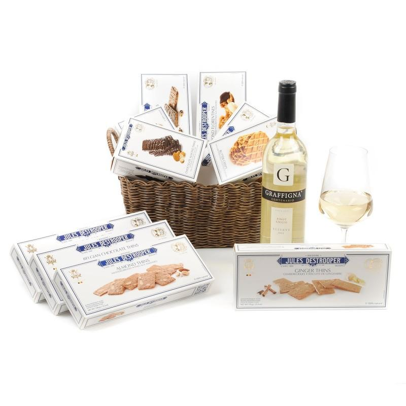 Biscuits & Pinot Gift Basket | SendGiftBasket – Delivering Gifts Across Europe
